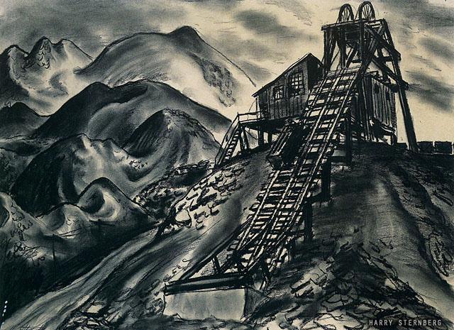 Pennsylvania Coal Mine Shaft Slope Mine 1936