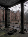 Pennhurst view from rotten porch